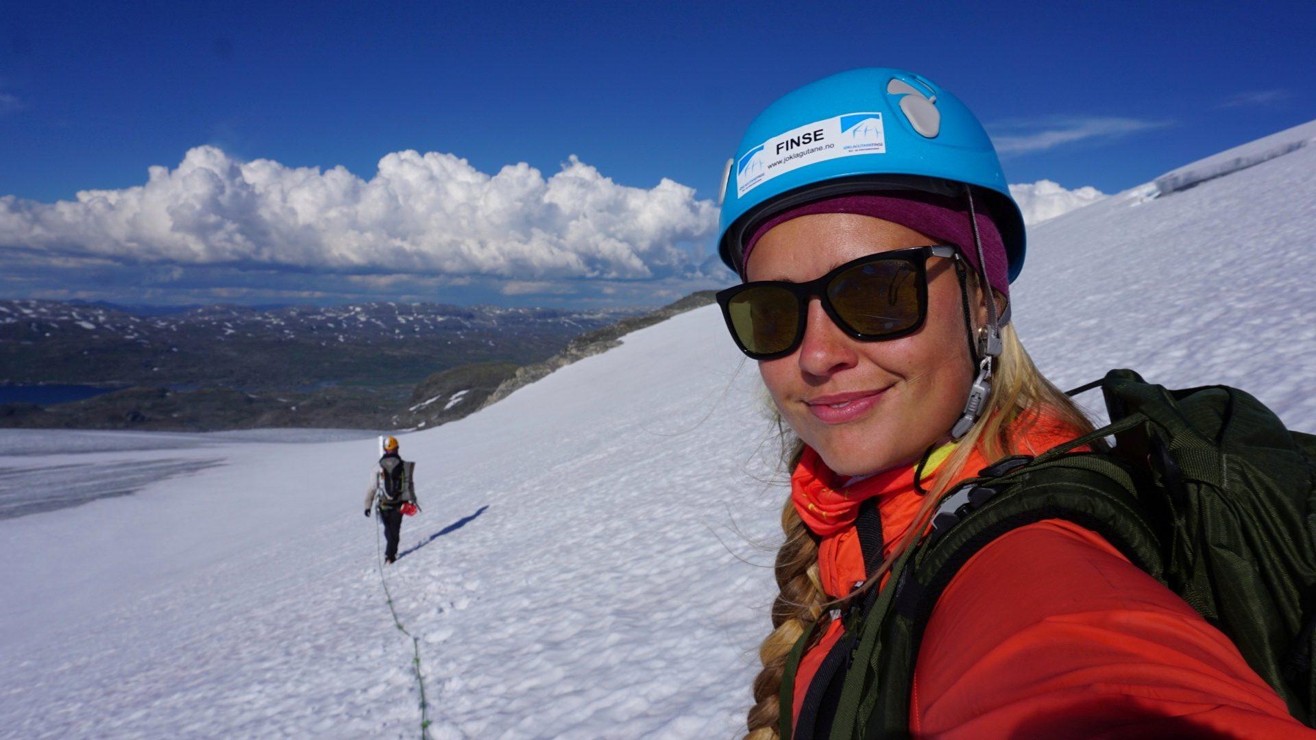 Maria Stray, Finse, Isbre, Hardangerjøkulen